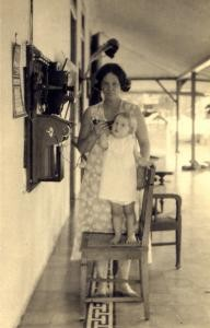 Henriette and her mother Drethe making a phonecall in 1932. (Drethe was 40 when Henriette was born.)