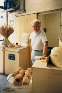 Dick as Baker at bio-dynamic Demeter Bakery, approx 1990