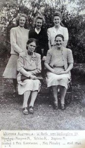 Henriette and Drethe Kuneman with the Mawby family in Perth, 1946. (Note that Henriette's nickname was Yetcha.)