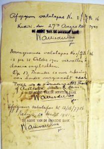 25b.Jan Kuneman 1940 Banking record