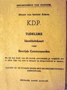 33-Drok temporary ID card-Dutch evacuees