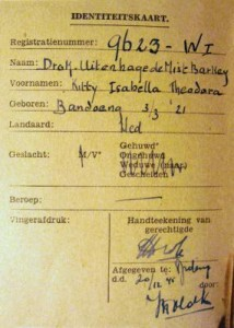 34-Kitty Drok Temporary ID card-Dutch evacuees