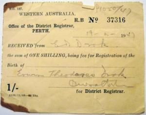 39-Erwin Droks Australian birth registration