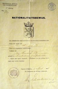 Jan Hendrik replacement birth certificate required for settlement in Java in 1906