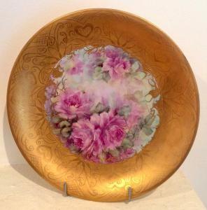 47-Kitty Drok-ceramic rose plate_0