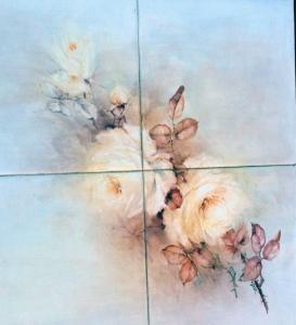 48-Kitty Drok-rose tiled tabletop_0