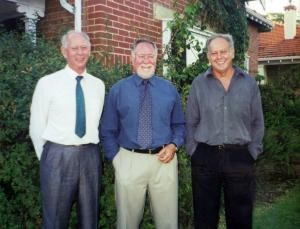 From left, Arnold, Erwin and Paul Drok, 2001