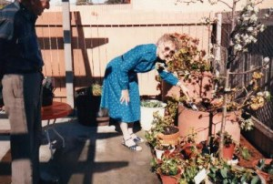 Silvia in her Garden in the year 2000