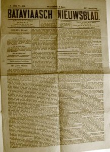 Bataviasch newspaper, 1914