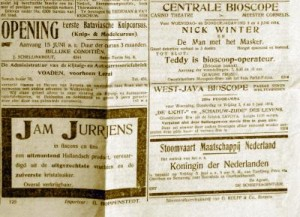 Advertisements from the Batiaviaasch 3 June 1914 newspaper, giving an indication of life in Java for the Dutch in this time frame.