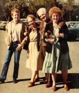 Julian (son), Beryl (second wife), Dick, Madeleine, 1981