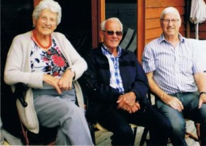 Elly and her brothers Reg & Max, 60 years after arrival