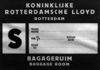 Baggage label KRL