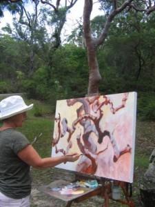 On site Painting Angophora Dance