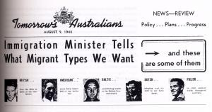 Who was wanted! Tomorrow's Australians (Department of Immigration, Canberra, 1950). Courtesy: PRO, Acc/Cons No. 541 AN3/3, Item 1830, p.3
