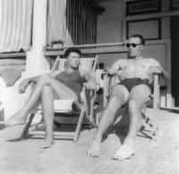 On holiday at Alexandria 1954