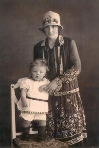 John and his mother, 1926.