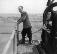 On top of a drilling rig, 1951