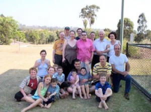Family gathering for John and Martha's 50th wedding anniversary at Queensland's Gold Coast, 2004.