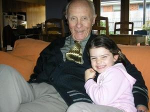 John with granddaughter Annika, 2006