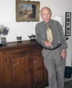 John visiting a NESWA representative at The Hague 2006.