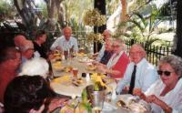 John celebrating his 75th birthday in 2001 with veteran friends