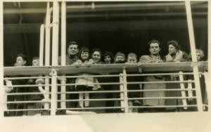 The Rutte family aboard the MS Johan van Oldenbarnevelten route to Australia