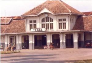 Tegal Station in Central Java (photo taken in 1980).