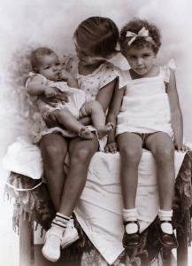 Anton and his two sisters in Malang, 1939