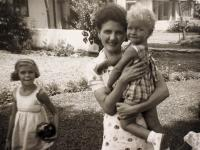 Anton with his mother and sister prior to war in 1939.