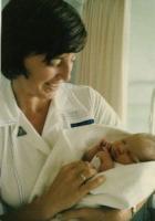 Aafke at Lismore Base Hospital 1984
