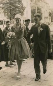Klaas and Aafke on their wedding day.