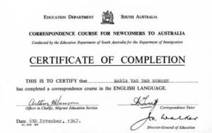 Certificate of Completion English